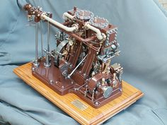 The finished product. Working model Victorian steam engine.