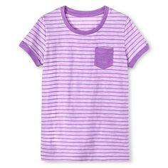 Girls' Purple Stripes Easy Tee - Cherokee®