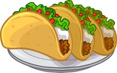 Tacos are a Puffle Food item in Club Penguin. See also Taco Tacos, Cartoon Pancakes, Orange Juice Smoothie, Hummus And Pita, Green Tea Lemonade, Rainbow Lollipops, Taco Stand, Food Clips, Sprinkle Donut
