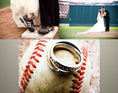 i hate pinning wedding stuff when it isn't even in my near future, but i couldn't resist this... i need to marry a baseball player so this can happen.