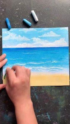 Art Drawings Beautiful, Art Drawings For Kids, Art Drawings Sketches Simple, Oil Pastel Drawings Easy, Oil Pastel Paintings, Oil Pastels, Crayon Art, Pencil Art Drawings, Drawing Art