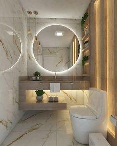 Bathroom Design Luxury, Modern Bathroom Design, Designs For Small Bathrooms, Home Room Design, House Design, Lavabo Vintage, Bathroom Design Inspiration, Design Ideas, Toilet Design