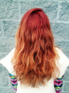 Red ombre by me #red #ombre #hair