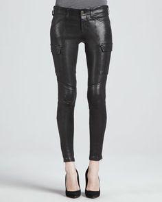 Houlihan Leather Skinny Pants by J Brand Jeans at Bergdorf Goodman.