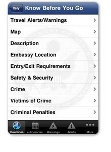 Smart Traveler: official State Department app for U.S. travelers, invites you to see the world with easy access to frequently updated official country information, travel alerts, travel warnings, maps, U.S. embassy locations, and more