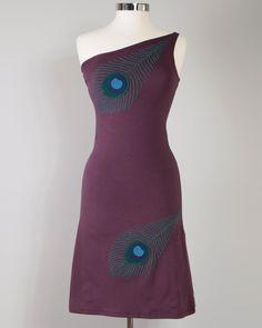 Peacock One Shoulder Dress
