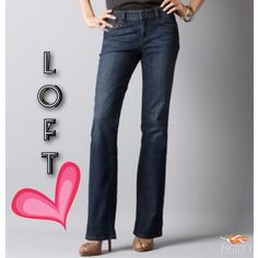 Loft Jeans NWT Original bootcut jean, straight through the hip and thigh.  Waist lying flat and straight across:  14 1/2 inches.  Inseam:  31 3/4.  Rise:  8 inches.  Leg opening:  8 3/4 inches.  Very nice! LOFT Jeans Boot Cut
