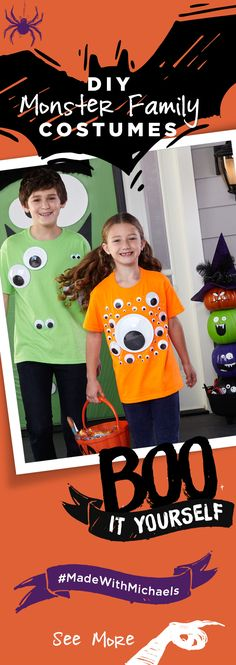 Boo it yourself with these fun and easy DIY Monster family costumes. Find everything you need for these costumes at your local Michaels.