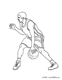 Magic Johnson coloring page from Basketball coloring pages. More ...