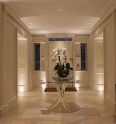 Hallway Lighting Design Ideas You Can Not Miss, Entrance Lighting, Stair Lighting, Linear Lighting, Entrance Foyer, Hallway Lighting, Living Room Lighting, Lighting Design, Lighting Ideas, Modern Entryway