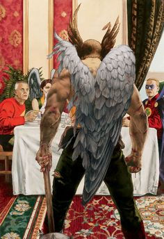 Hawkman by John Watson. Yes, that is actually the artist's name