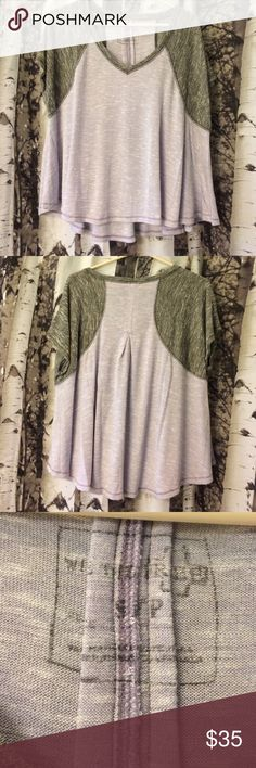 Free People, we the free baseball shirt Never worn! Really soft! Free People Tops Tees - Short Sleeve