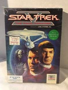 "Star Trek V: The Final Frontier PC IBM DOS 5.25"" Floppy Disks Computer 1989 Game"