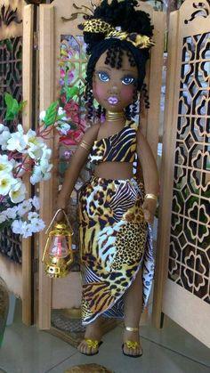 Boneca de pano negra  Soraia flores