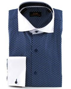 White eyelet collar french cuff dress shirt 2 for 39 for Mens dress shirts with different colored cuffs and collars