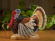 Turkey made of seed beads!