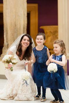 Blue and White Wedding Ideas - Kara & Brad on Borrowed & Blue.  Photo Credit: Leeann Marie, Photographers