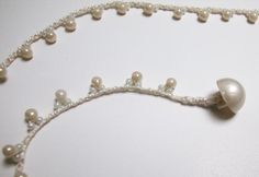 Simple crochet bead cluster bracelet or necklace  #handmade #jewelry