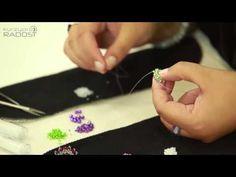 (29) Korálkování, šité šperky- Radka Fleková - 1.díl - YouTube