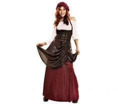 Disfraz de Tabernera medieval para mujer