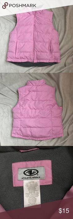 Athletic works Vest Athletic works Vest! Pink size large, two front pockets grey inside! Athletic Works Jackets & Coats Vests
