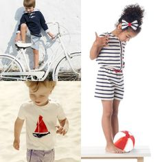 Navy Style, Shirt Dress, T Shirt, Google, Dresses, Fashion, Kids Fashion, Summer 2016, Trends
