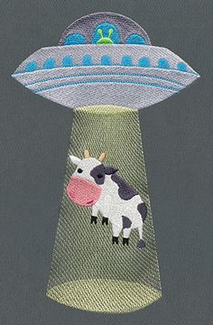 """This free embroidery design from Urban Threads is called """"Bessie's Adventure""""."""