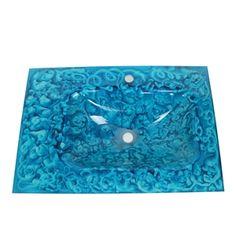 (EU Lager)Design Glas Waschbecken Eckig