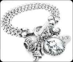 Alice in Wonderland Jewelry, Alice Bracelet, Fairytale Jewelry, Queen Alice, Alice in Wonderland Charms - Blackberry Designs Jewelry