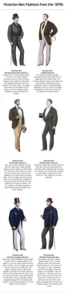 Victorian Mens' fashion    www.victoriana.com/victorianmen/victorianmen.html