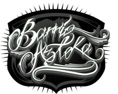 Cholos Cholas Azteca Tattoo Graffiti Gangster Weed Cannabis Charra Catrina Payasa Marihuana Calaveras Art Script Lettering, Typography Letters, Azteca Tattoo, Crazy Art, Weird Art, Cannabis, Weed, Graffiti, Design Logos