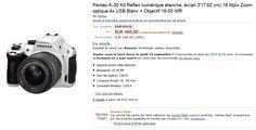 Vente flash Amazon avec -28% sur le reflex Pentax K-30 en kit avec l'objectif 18-55 WR