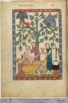 Codex Manesse, 1304-1340, 46v Herr Jakob von Warte