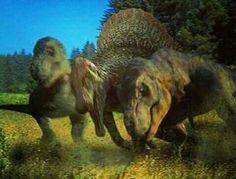 Two Tyrannosaurs vs Spinosaurus Jurassic World Fallen Kingdom, Jurassic Park World, Jurassic World Wallpaper, Jurassic Park Poster, Dinosaur Wallpaper, Dinosaur Images, The Lost World, Spinosaurus, Falling Kingdoms