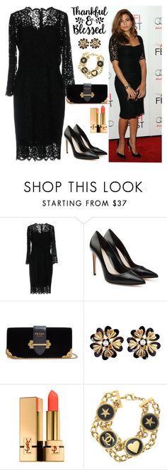 """LITTLE BLACK DRESS"" by nefertiti1373 ❤ liked on Polyvore featuring Dolce&Gabbana, Cricut, Alexander McQueen, Prada, Chanel, Yves Saint Laurent and LBD"