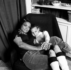 My mother and I 1968. Photo by Sir Jeremy Grayson.