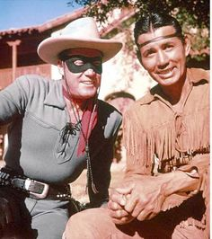 Clayton Moore as the Lone Range with Jay Silverheels as Tonto - it was on TV from 1949-1957 and in repeats after that for most of the 60s.
