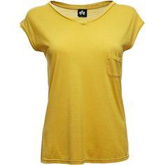 Altalana Short Sleeve T-Shirts (75 AUD) ❤ liked on Polyvore featuring tops, t-shirts, shirts, hauts, tees, short sleeve tee, yellow top, yellow tee, short-sleeve shirt and t shirts
