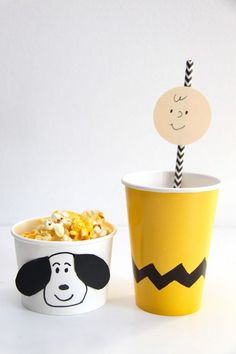 It's the Great Pumpkin, Charlie Brown Viewing Party. This is such an adorable idea to do every year!: