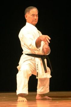 Morio Higaonna. Amazing man it was such an honor to train with him