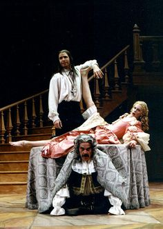 Tartuffe by Moliere is a restoration comedy of manner written in 1664. It is one of the best examples of plays from that time and very funny!