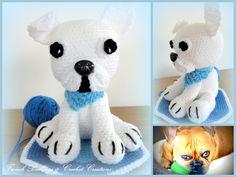 French bulldog Crochet Ideas, French Bulldog, Dinosaur Stuffed Animal, Toys, Animals, Amigurumi, Activity Toys, Animales, Bulldog Frances