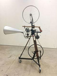 William Kentridge . kinetic sculpture (bicycle wheel), 2016