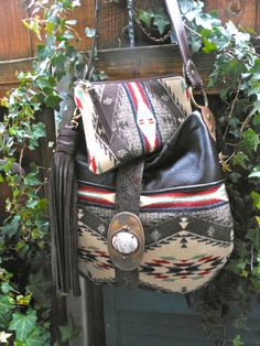 Native American Style Bag Leather Bag Purse Made Using