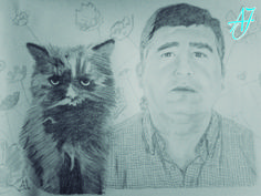 #AJ_ Un retrato muy personal y único, en el que un señor que había perdido a su quería mascota, su gata, unos meses antes, y quería tenerla presente siempre, y éste es el resultado. En papel A3 con Grafito.   Desde #benalmadena, #malaga, @AmparoJurado85 #docente2.0 #aj_informa con mucho #arte #pintura #carboncillo #art #lovingart #loveart desde #andalucia #españa porque #estaes_espania #estaes_andalucia #estaes_malaga #lovingmalaga #ilovemalaga #lovebenalmadena #costadelsol #regalosnavideños