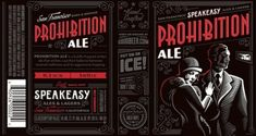 Packaging de la cervecería Speakeasy por Emrich Co.
