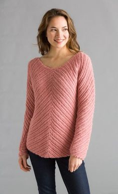 Bias Knit Pullover in Classic Elite Yarns Chateau. Find this perfect winter pattern and more inspiration at LoveKnitting. Sweater Knitting Patterns, Knitting Yarn, Knit Patterns, Free Knitting, Classic Elite Yarns, Knitting Supplies, Knit Crochet, Tops, Baby Alpaca