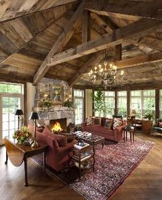 Rustic Living Room Designs elements can add a touch of favor and design to any home. Rustic Living Room Designs can imply many issues to many people… Rustic Living Room Furniture, Living Room Decor, Living Rooms, Basement Furniture, Living Spaces, Log Home Living, Modern Living, Kitchen Living, Small Living