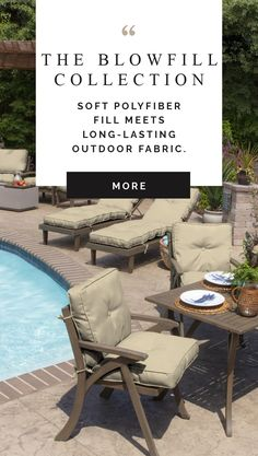 Check out these gorgeous tan outdoor patio cushions! They're fade resistant and so comfortable! Patio Cushions, Outdoor Furniture Sets, Outdoor Decor, Outdoor Fabric, Patio Ideas, Outdoor Living, House Design, Space, Check