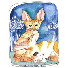 michelle maule print fennec foxes $20